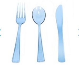 Other - Blue plastic silverware